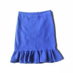 Anthropologie Post Mark Pencil Peplum Ruffle Skirt